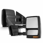 04-14 Ford F150 Pickup Power+Heated+LED Turn Signal Towing View Side Mirrors - Pair