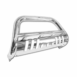 04-15 Nissan Titan / ArmadaT-304 Stainless Steel Grille Grill Push Bull Bar With Skid Plate - Polished Chrome