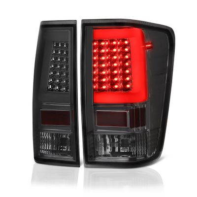 04-15 Nissan Titan LED Light-Tube Style Tail Lights - Smoked