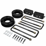04-17 Ford F-150 Black 2.5-inch Front 2-inch Rear Leveling Lift Kit Spacers / Blocks + U-Bolts