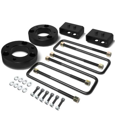 "04-17 Ford F-150 Black 2"" Front 2"" Rear Leveling Lift Kit Spacers / Blocks + U-Bolts"