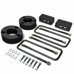 04-17 Ford F-150 Black 3-inch Front 2-inch Rear Leveling Lift Kit Spacers / Blocks + U-Bolts