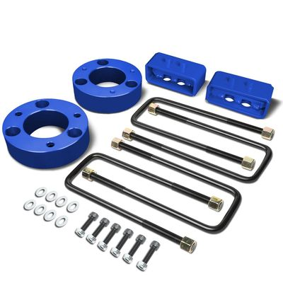 "04-17 Ford F-150 Blue 2.5"" Front 2"" Rear Leveling Lift Kit Spacers / Blocks + U-Bolts"