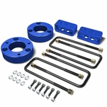 04-17 Ford F-150 Blue 2.5-inch Front 2-inch Rear Leveling Lift Kit Spacers / Blocks + U-Bolts