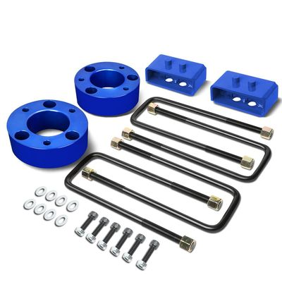 "04-17 Ford F-150 Blue 3"" Front 2"" Rear Leveling Lift Kit Spacers / Blocks + U-Bolts"