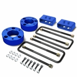 04-17 Ford F-150 Blue 3-inch Front 2-inch Rear Leveling Lift Kit Spacers / Blocks + U-Bolts