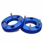 """04-17 Ford F-150 Pair of Blue Front 1.5"""" Billet Anodized Aluminum Leveling Lift Kit Spacers"""