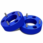 """04-17 Ford F-150 Pair of Blue Front 2.5"""" Billet Anodized Aluminum Leveling Lift Kit Spacers"""