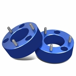 """04-17 Ford F-150 Pair of Blue Front 3"""" Billet Anodized Aluminum Leveling Lift Kit Spacers"""