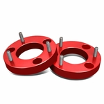 """04-17 Ford F-150 Pair of Red Front 1.5"""" Billet Anodized Aluminum Leveling Lift Kit Spacers"""