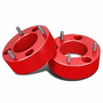 """04-17 Ford F-150 Pair of Red Front 3"""" Billet Anodized Aluminum Leveling Lift Kit Spacers"""