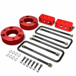 04-17 Ford F-150 Red 2.5-inch Front 2-inch Rear Leveling Lift Kit Spacers / Blocks + U-Bolts