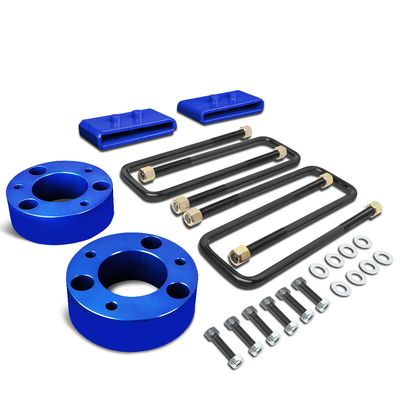 "04-17 Ford F150 4WD Blue 3"" Front Spacers + 1"" Rear Blocks Raise Leveling Lift Kit"