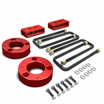 04-17 Ford F150 4WD Red 2.5-inch Front + 1.5-inch Rear Complete Suspension Leveling Lift Kit
