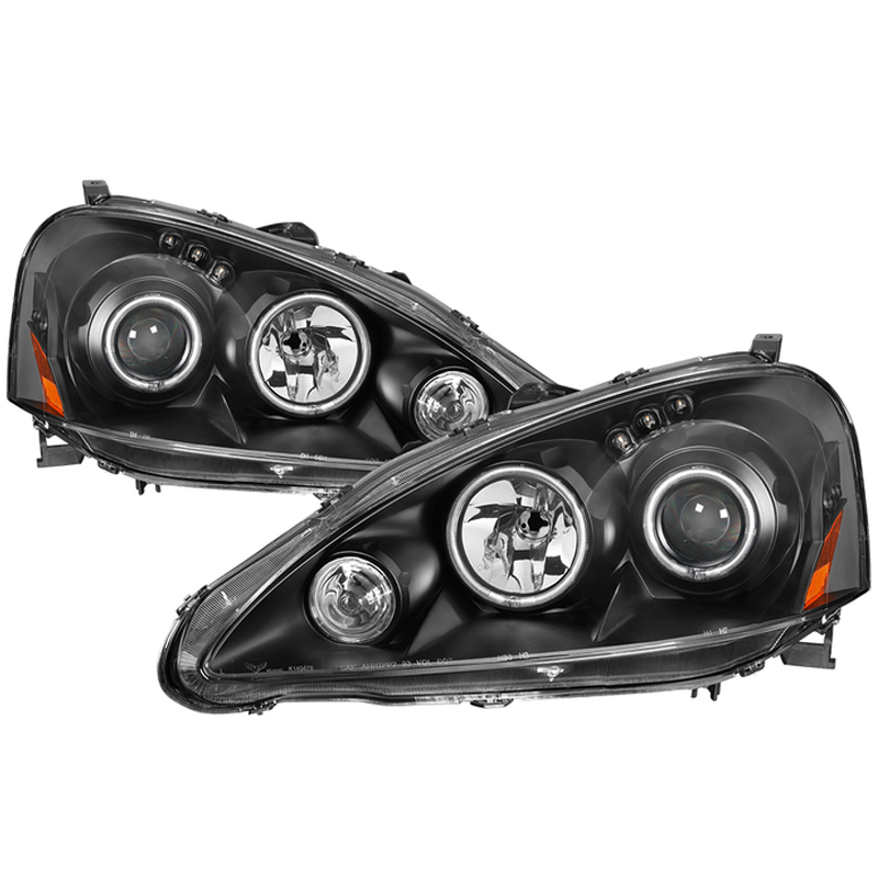 05-06 Acura RSX LED DRL & CCFL Halo Projector Headlights