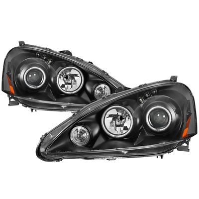 05-06 Acura RSX LED DRL & CCFL Halo Projector Headlights - Black