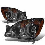 05-06 Honda CR-V OE-Style Replacement Headlights - Smoked / Amber
