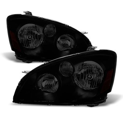05-06 Nissan Altima [Halogen Model] Crystal Replacement Headlights - Black Smoked