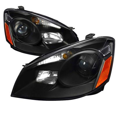 2005-2006 Nissan Altima DEPO Replacement Projector Headlights - Black