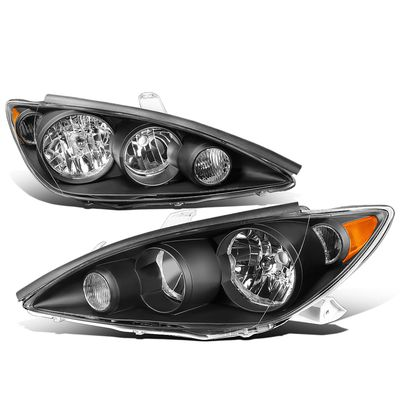 05-06 Toyota Camry XV30 OE-Style Replacement Headlights - Black / Amber