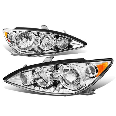 05-06 Toyota Camry XV30 OE-Style Replacement Headlights - Chrome / Amber