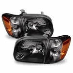 05-06 Toyota Tundra (Double Cab) / 05-07 Sequoia Replacement Headlights - Black