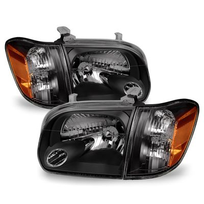 05-06 Toyota Tundra / 05-07 Sequoia Replacement Headlights - Black