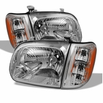 05-06 Toyota Tundra (Double Cab) / Sequoia Replacement Crystal Headlights - Chrome