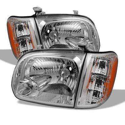 05-06 Toyota Tundra / Sequoia Replacement Crystal Headlights - Chrome