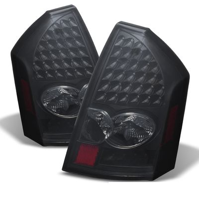 05-07 Chrysler 300 Performance LED Tail Lights - Black Smoked