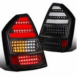 05-07 Chrysler 300C Full LED Replacement Tail Lights - Stealth Black