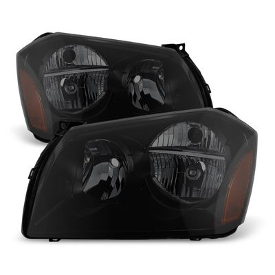 05-07 Dodge Magnum Replacement Crystal Headlights - Black Smoked