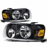 05-07 Ford Escape OE-Style Replacement Headlights  - Black / Amber