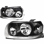 05-07 Ford Escape OE-Style Replacement Headlights  - Black / Clear