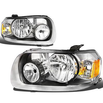 05-07 Ford Escape OE-Style Replacement Headlights  - Chrome / Amber