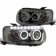 05-07 Ford Escape Smoke Dual Halo SMD LED DRL Tinted Projector Headlights