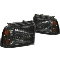 05-07 Ford F250 F350 Super Duty LED Crystal Headlights - Smoked