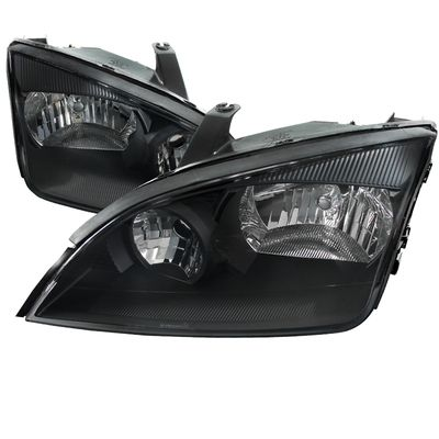 05-07 Ford Focus ZX4 Replacement Crystal Headlights - Black