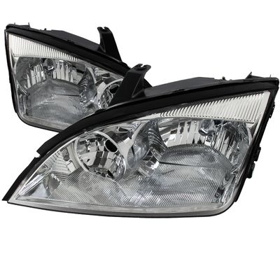 05-07 Ford Focus ZX4 Replacement Crystal Headlights - Chrome