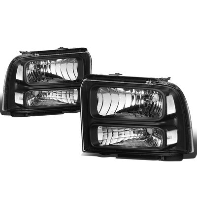 05-07 Ford Super Duty OE Style Headlight Lamp Assembly (Black Housing) - 1 Gen F-250/F-350/F-450/F-550