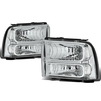 05-07 Ford Super Duty OE Style Headlight Lamp Assembly (Chrome Housing) - 1 Gen F-250/F-350/F-450/F-550