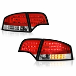 05-08 Audi A4 / S4 / RS4 4DR Sedan Euro Style LED Tail Lights - Red / Clear ALT-YD-AA406-G2-LED-RC By Spyder