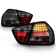 05-08 BMW E90 3-Series 4DR Sedan Euro Style LED Tail Lights - Smoked ALT-YD-BE9006-LED-SM By Spyder