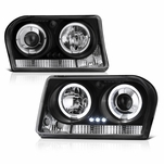 05-08 Chrysler 300 Angel Eye Halo & LED Projector Headlights - Black