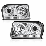05-08 Chrysler 300 Angel Eye Halo & LED Projector Headlights - Chrome