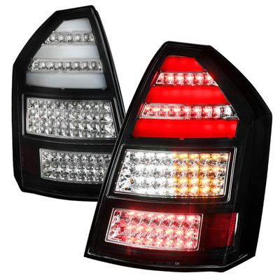 05-08 Chrysler 300C Replacement LED Tail Lights - Black