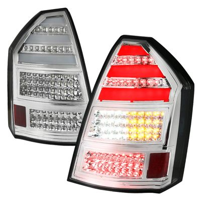 05-08 Chrysler 300C Replacement LED Tail Lights - Chrome