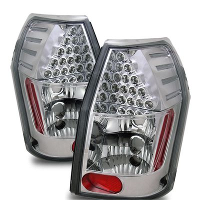 05-08 Dodge Magnum Euro Style LED Tail Lights - Chrome