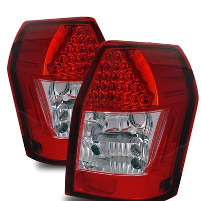 05-08 Dodge Magnum Euro Style LED Tail Lights - Red / Clear