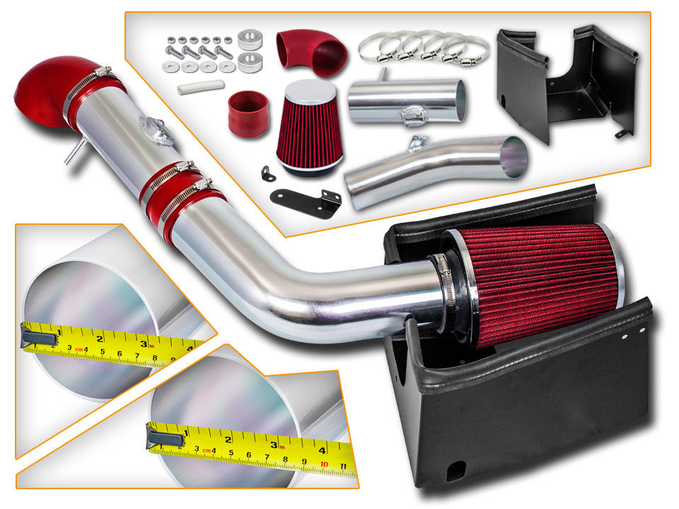 2005-2008 Ford F150 5.4L V8 Cold Air Intake+Red Filter+Heat Shield